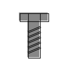 screw tool isolated icon vector image vector image