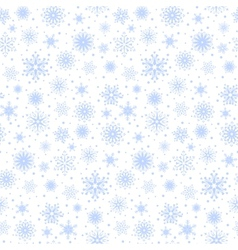 Seamless blue snowflakes vector image