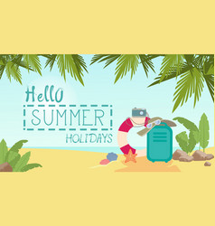 Summer beach vacation concept seaside sand vector