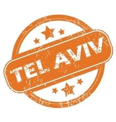 Tel aviv round stamp vector