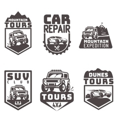 Suv 4x4 off-road travel tour club icon logo vector