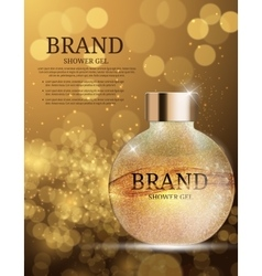 Shower gel bottle template for ads or magazine vector