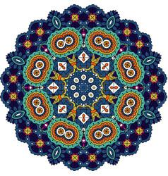 blue and green mandala vector image