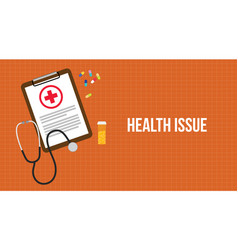 Health issue with paperwork on clip vector