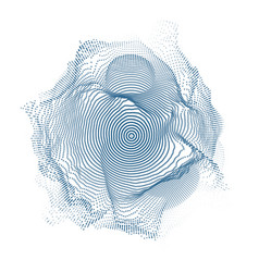 Abstract blue mesh on dark vector
