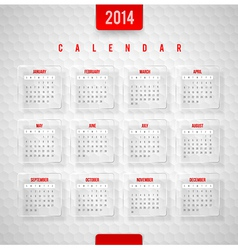design template - Calendar of 2014 vector image