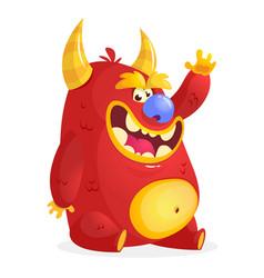 Cartoon red monster vector