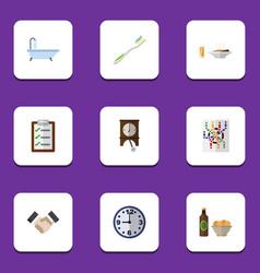 Flat icon oneday set of dental clock partnership vector