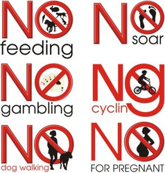Symbol prohibitions vector image