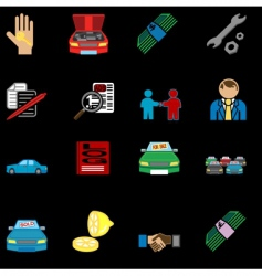 Car sale icons vector
