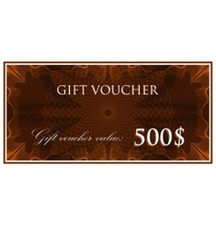 Template design of gift voucher or certificate vector