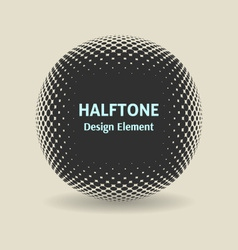 Halftone design element vector