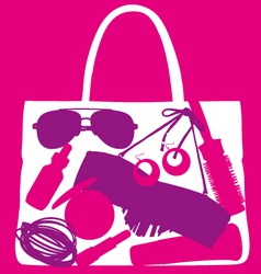 Lady handbag vector