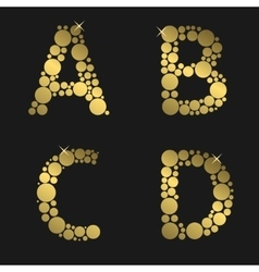 Golden letter set vector