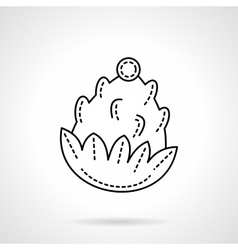 Flat line style pine cone icon vector