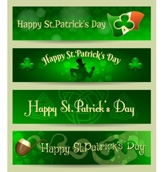 St patricks day headers or banners set vector
