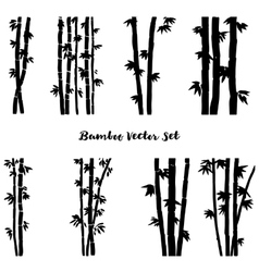 Monochrome bamboo set vector
