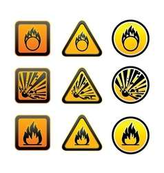 Hazard warning symbols set vector image