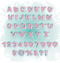 Abstract modern alphabet vector
