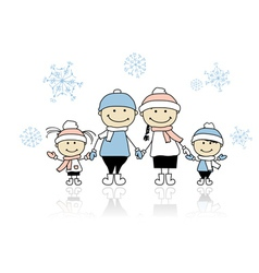 Happy family smiling together christmas holiday vector