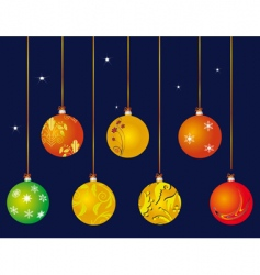 a set of christmas ball vector image vector image