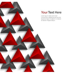 Abstract red and gray pyramids on white background vector image vector image