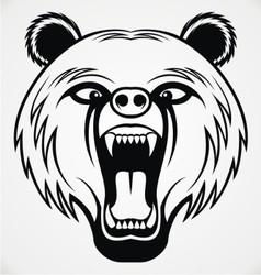 Angry bear head tribal vector