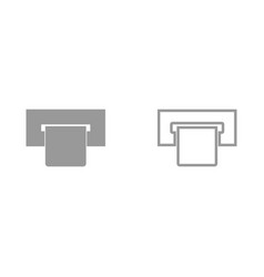 atm card slot it is icon vector image