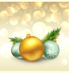 beautiful festival greeting of christmas with vector image