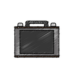 Briefcase accessory icon vector