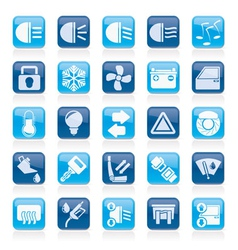 Car interface sign and icons vector image vector image