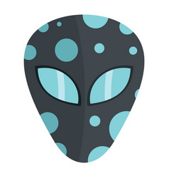 Cartoon flat alien head isolated on white vector