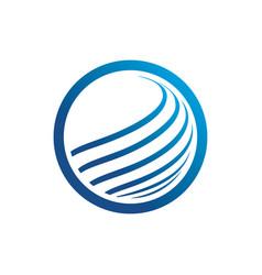 circle technology logo image vector image vector image