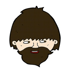 comic cartoon bearded man vector image vector image