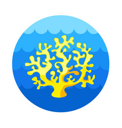 Coral icon summer vacation vector