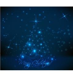 dark christmas back vector image vector image