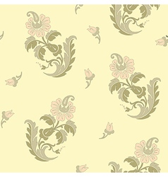 Decorative flowers in east style vector image