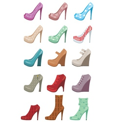 female shoes set vector image vector image