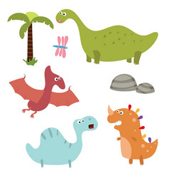 funny cartoon dinosaurs funny cartoon dinosaurs vector image vector image