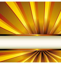 golden rays vector image