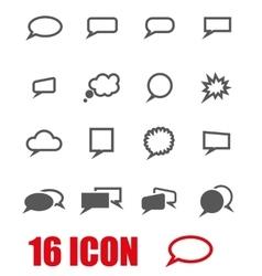 grey speach bubbles icon set vector image vector image