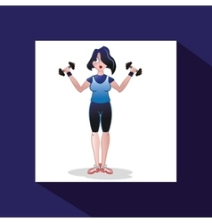 Gym and fitness design vector
