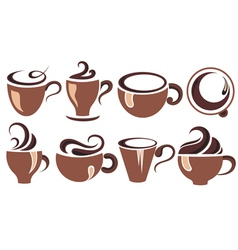 icoffee con collection vector image vector image