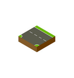 Isolated down isometric downward element vector