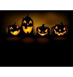 Laughing halloween lanterns vector