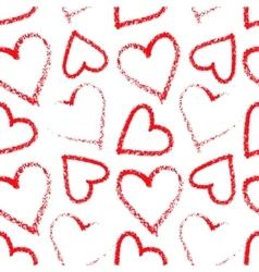 Lipstick heart seamless vector image vector image