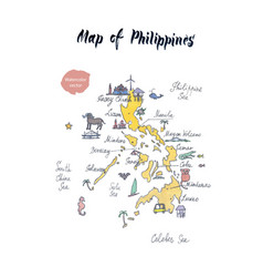 map of philippines watercolor vector image