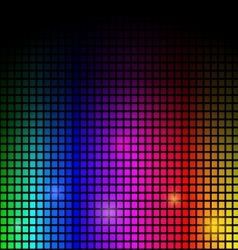 modern Abstract background colorful lights on blac vector image