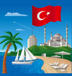 Resort journey in turkey vector