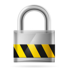security concept with locked pad lock on white vector image vector image